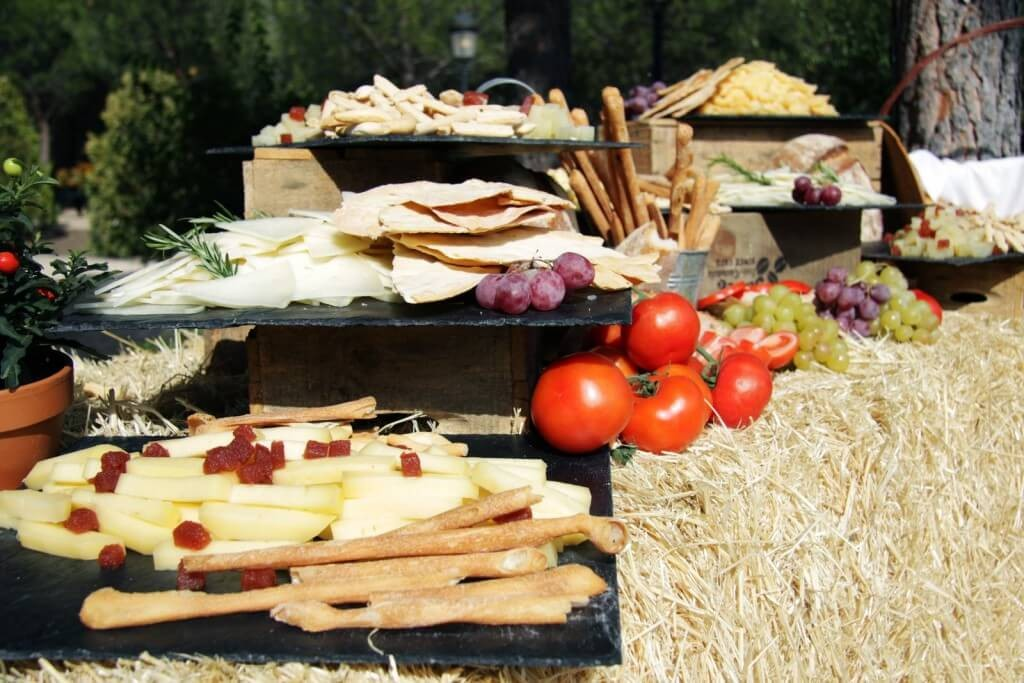 entremeses salados finca eventos en Madrid