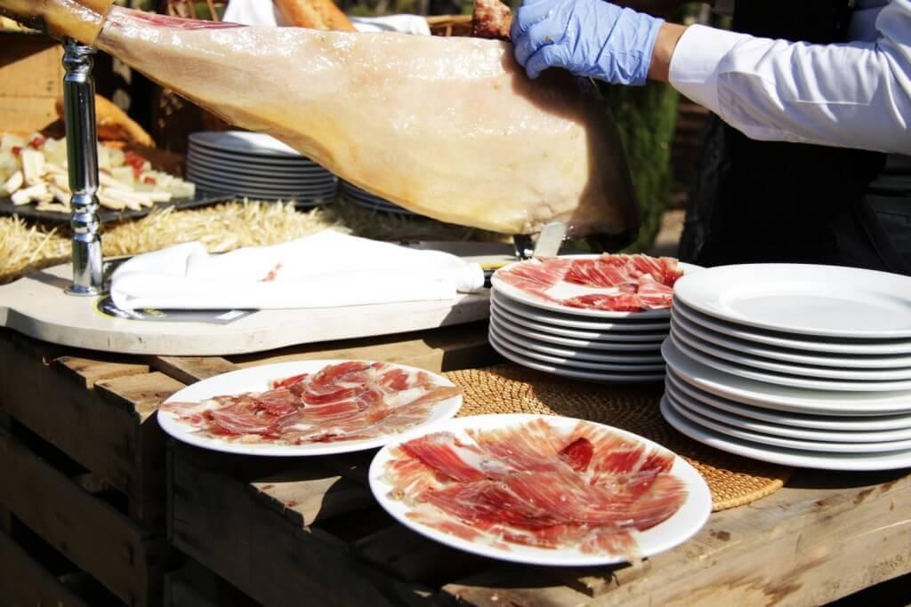 jamón finca eventos en Madrid